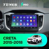 Штатная магнитола Hyundai Creta 2015-2019 Teyes CC2 Wi-Fi, 4G, Android 8.1 2/32 10 дюймов + камера