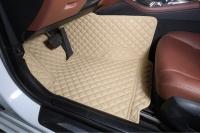 Комплект ковров в салон Lexus LX570 2017+ Бежевый с бежевой строчкой