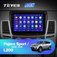 Штатная магнитола Mitsubishi Pajero Sport 2 2008-2016 Teyes CC2 Wi-Fi, 4G, Android 8.1 4/64 9 дюймов