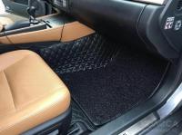Комплект ковров в салон Mercedes ML 2013+ Черный с черной строчкой