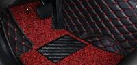 Комплект ковров в салон Nissan Patrol 2011+ Черный с красной строчкой