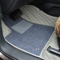 Комплект ковров в салон Toyota Camry 2008+ Серый с серой строчкой