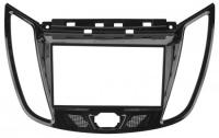 Переходная рамка Ford Focus 3, C-Max 2011 -, 2din, крепеж, черная (комплектация авто с 4.2 ЖК)