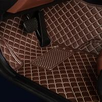 Комплект ковров в салон Mercedes GLK300 2014+ Шоколад с бежевой строчкой