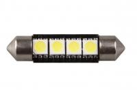 Автолампа светодиод салонная T10*39mm, 4 диода