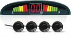 Парктроник LED 4 датчика черный