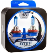 Автолампа MTF H8 Palladium 5500