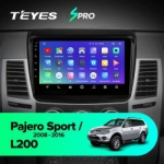 Штатная магнитола Teyes Mitsubishi L200 2006-2015, Pajero Sport 2 2008-2016 SPRO Wi-Fi, 4G, Android 8.1 2/32 9 дюймов