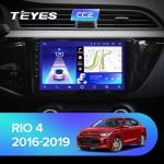 Штатная магнитола Teyes Kia Rio 4 CC2 Wi-Fi, 4G, Android 8.1 4/64 9 дюймов