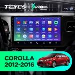 Штатная магнитола Teyes Toyota Corolla 180 2012-2016 SPRO Wi-Fi, 4G, Android 8.1 2/32 10.2 дюйма