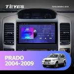 А/м штатный Toyota Prado 120 2004-2009 Teyes SPRO Wi-Fi, 4G, Android 8.1 2/32 9 дюймов + камера