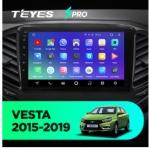 Штатная магнитола Teyes Lada Vesta SPRO Wi-Fi, 4G, Android 8.1 4/64 9 дюймов